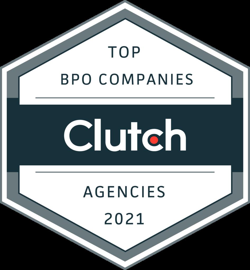 Clutch Badge for top bpo companies